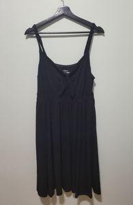 Torrid Black Super SoftTie Front Skater Dress